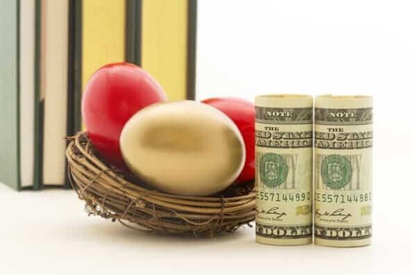 金の卵と紙幣