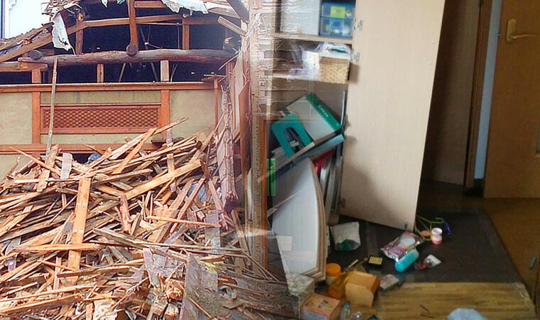 「居住用の建物」「家財」の損害