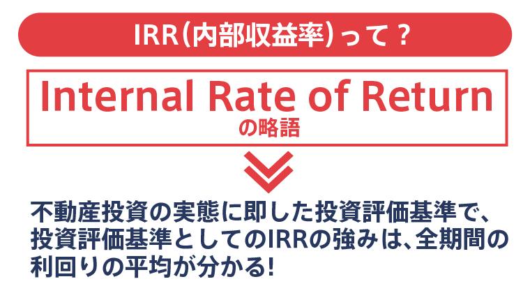 不動産投資のIRR(内部収益率)とは全期間の利回りの平均